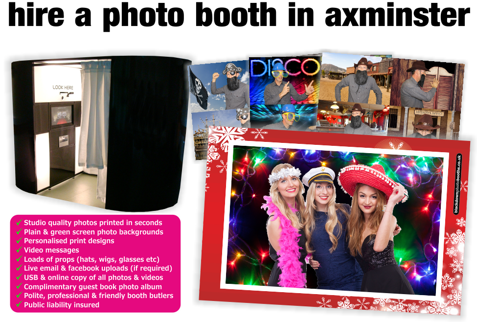 Axminster Photobooth & Photo Booth Hire, Axminster, Devon